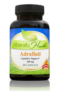 A bottle of adrafinil pills bought from Absorb Health