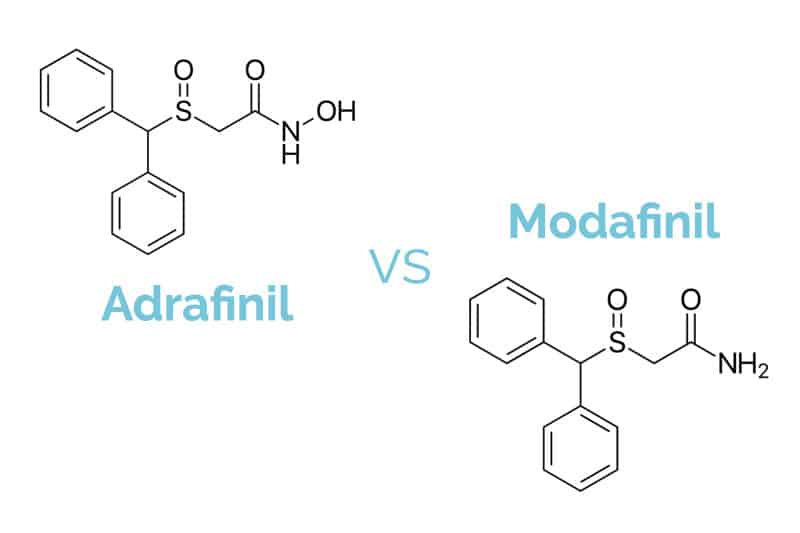 Image result for adrafinil vs modafinil