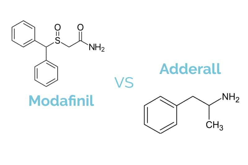Modafinil vs  Adderall - How They Compare and Is One a